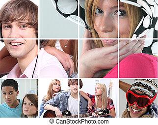imagens, adolescência