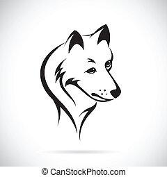 imagens, cabeça, vetorial, lobo