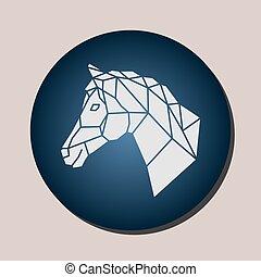 imagens, cavalo, vetorial, cabeça