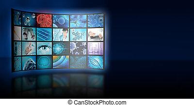 imagens, colagem, microbiologia