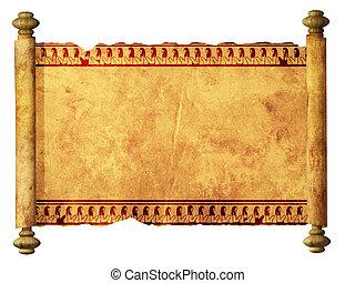 imagens, scroll, egípcio