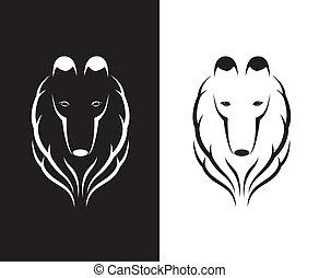 imagens, shetland, cabeça, vetorial, sheepdog