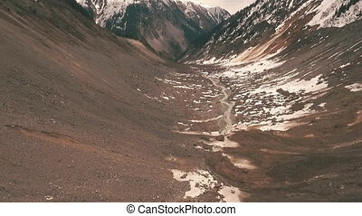 imagery of the glacier from the drone,Aerial view - imagery...
