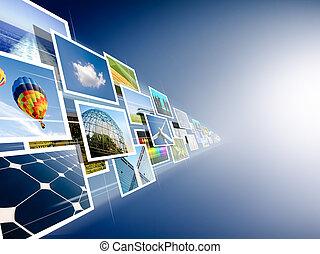 images, поток