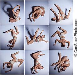 images, beige, jeune, collage, danseur, swimwear, beau
