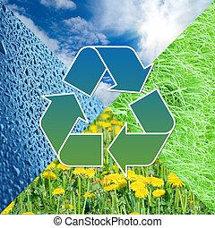 images, conceptuel, recyclage, signe, nature