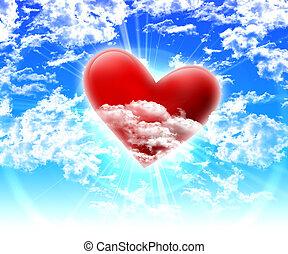 images, de, coeur