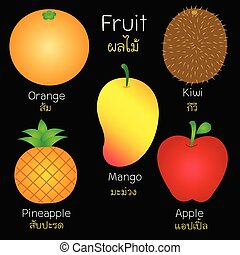 images, de, divers, fruits.