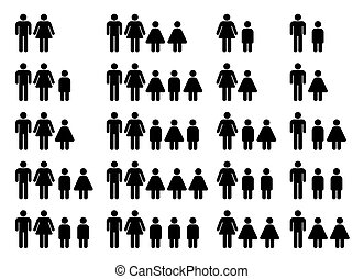 family composition - images of different kinds of family...