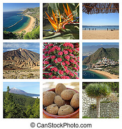 images of fantastic Tenerife island - collage