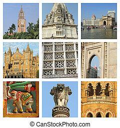 images of Mumbai city collage, India