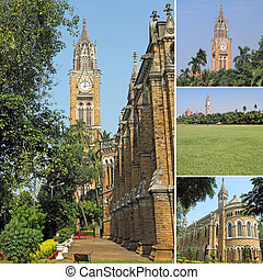 images of Mumbai University as backdrop