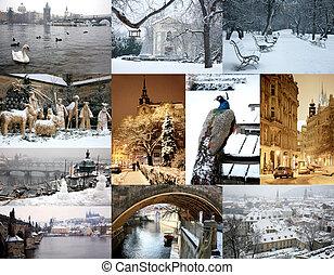 images, prague, hiver