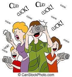 images, prendre, gens