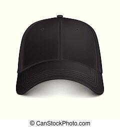 images - Vector Black Mock-up City Cap Front