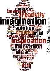 imaginação, palavra, nuvem