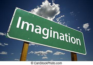 imaginação, sinal estrada