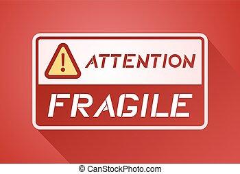 imaginatif, symbole, fragile, attention