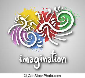 Imagination cover - Creative design of imagination cover