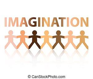 imagination, gens papier