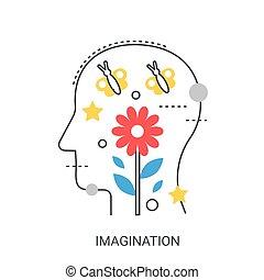 Imagination vector illustration concept.