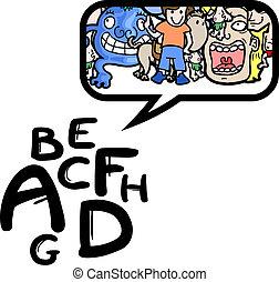 Imaginative comic symbol