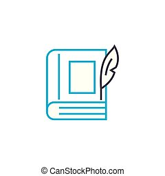 Imaginative literature linear icon concept. Imaginative literature line vector sign, symbol, illustration.