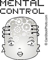 imaginative mental control face draw