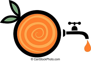 imaginative orange juice symbol - Creative design of...