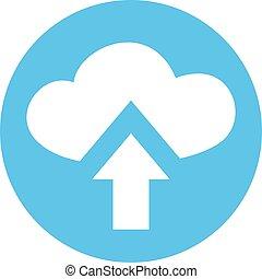 imaginative upload cloud symbol
