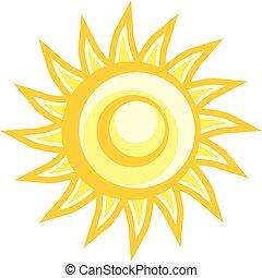 imaginativo, sol, ilustração