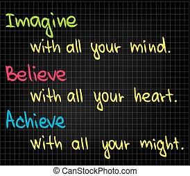 Imagine - Sketch words of success for business presentation