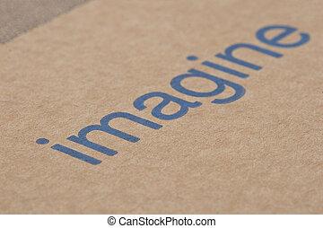 Imagine Word on the Cardboard