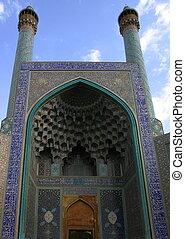 imam, esfahan., iran, square., mosque.