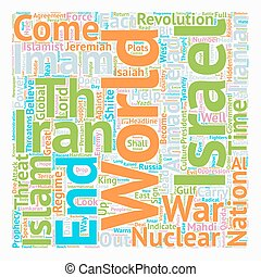imam, israel, concepto, irán, 12, wordcloud, plano de fondo,...