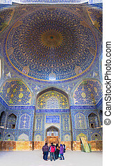 imam, mecset, belső, irán, isfahan