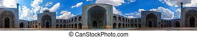 imam, mecset, irán, udvar, isfahan