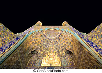 Imam Mosque at night, Isfahan, Iran