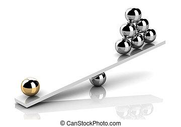 imbalance (high resolution 3D image)