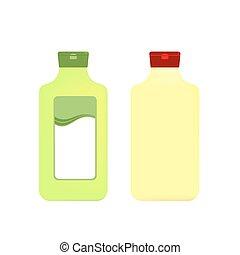 imballaggio, bottiglie, plastica, packagin