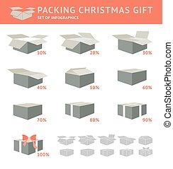 imballaggio, gift., cristmas