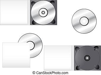 imballaggio, multimedia, cd