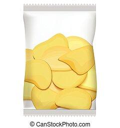 imballaggio, patatine fritte