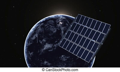 earth and solar panel - imgae of earth and solar panel