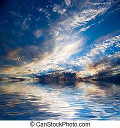 imgp2716b, wolkenhimmel, wasser