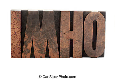 imho in old letterpress wood letters