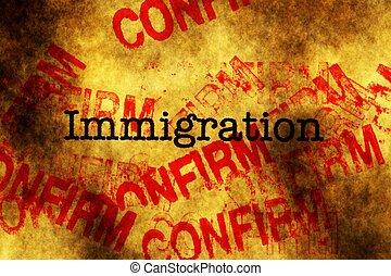 imigração, confirmar