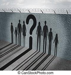 imigração, crise