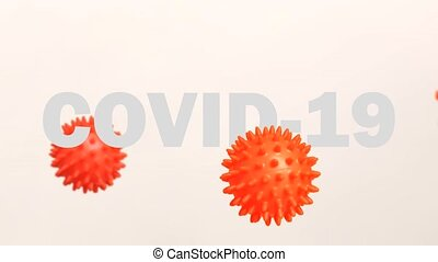 Imitation 3D animation of the Coronavirus 2019-nCoV Wuhan. ...