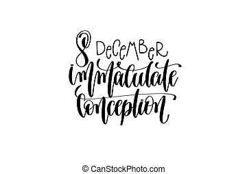 immaculate conception hand lettering congratulation...